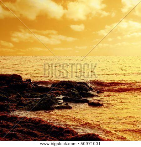 nature image of seaside.