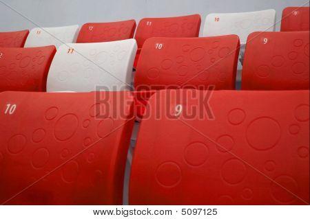 Red Tribune Seats