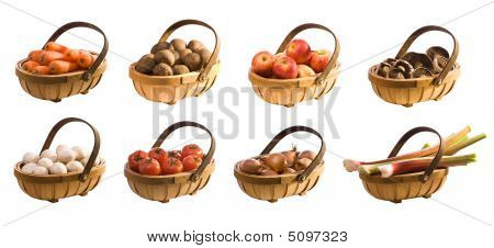 Trugs Of Vegetables & Fruits