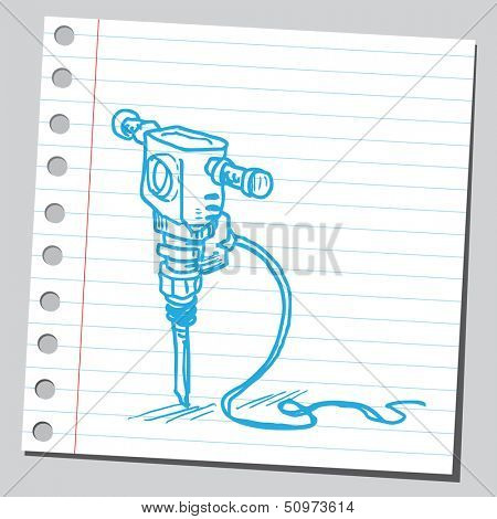 Jack hammer (pneumatic drill)