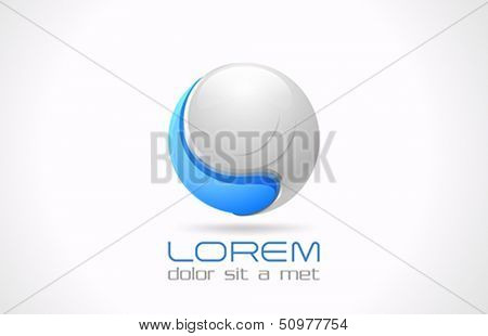 Sphere abstract icon vector logo design template. Sci-fi futuristic style icon. Future technology engineering labs theme. Science laboratory.