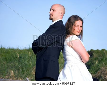 Wedding Couple Fighting