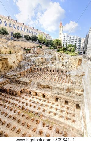 Roman Baths In Beirut, Lebanon