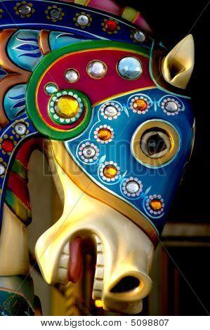 Aquatic Themed Carousel Horse