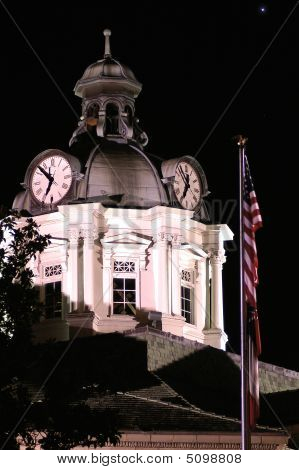 Clock Tower At Night