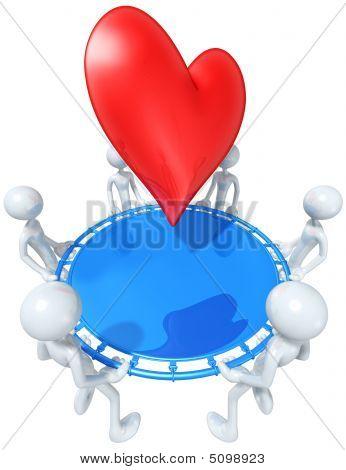 Safety Net Catching Falling Heart