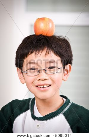 A Boy With An Apple