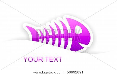 Purple Glossy Fish Bone Sticker Notification