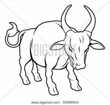 Stylised Ox Illustration