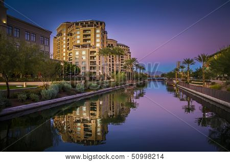 Canal running through, Scottsdale, Arizona,USA