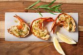 picture of lobster tail  - Grilled lobster tails with lemon tarragon butter - JPG
