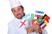 stock photo of goatee  - World cuisine chef - JPG