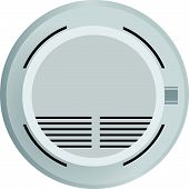 stock photo of smoke detector  - Smoke detector in fire safety - JPG