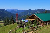 AUSTRIA - AUGUST 2012 :  Zohreralm, Restaurant at 1334M. high overlooking Achenkirch and the Bavaria
