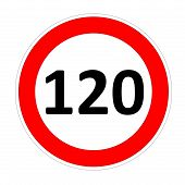 120 speed limit sign
