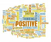 picture of think positive  - Think Positive as an Attitude Abstract Concept - JPG