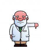 pic of disapproval  - Scientist giving a thumbs down - JPG