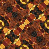 art nouveau ornamental vintage blurred pattern in brown color