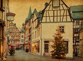 foto of cobblestone  - Christmas Eve in Bernkastel - JPG