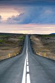 foto of paved road  - Iceland - JPG