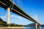 pic of hong kong bridge  - Ting Kau suspension bridge in Hong Kong - JPG