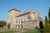 foto of tatas  - Old castle in Tata Hungary clear blue sky - JPG