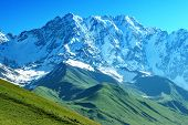 stock photo of snow clouds  - beautiful mountain on summer time - JPG