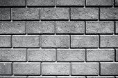stock photo of brick block  - Very old brick wall  - JPG