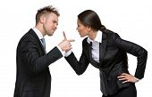foto of debate  - Two businesspeople debate - JPG