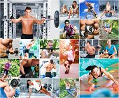 stock photo of latin people  - Sports lifestyle concept - JPG