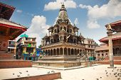 stock photo of krishna  - Krishna Mandir Temple - JPG