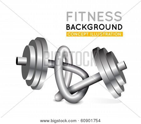 Weights twisted in a knot.