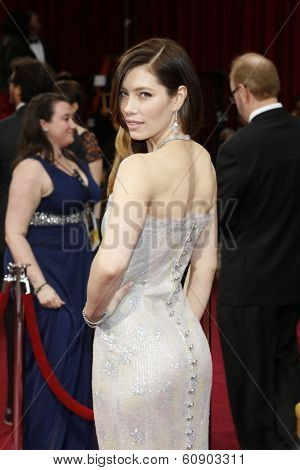 LOS ANGELES - MAR 2:: Jessica Biel  at the 86th Annual Academy Awards at Hollywood & Highland Center on March 2, 2014 in Los Angeles, California