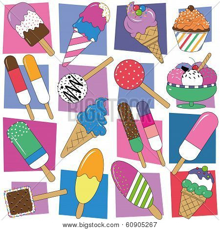 ice cream collection pattern