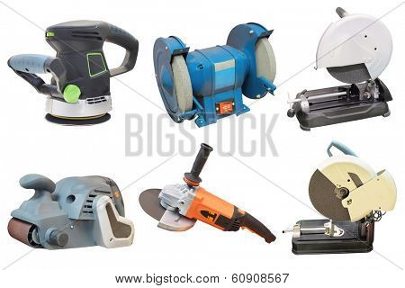 grinder machines under the white background