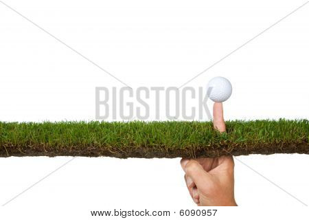 Golf-ball on a finger