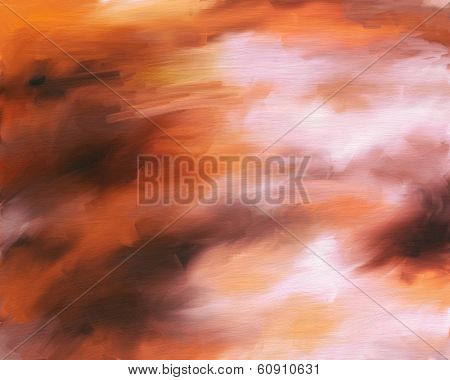 Abstract background painting of smeary oil paint