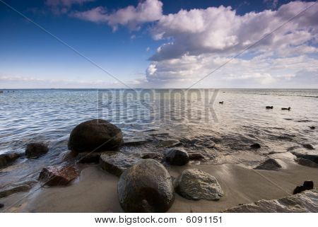 Baltic Sea And Dynamic Sky