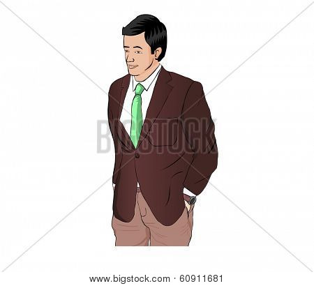 Business Man with suit