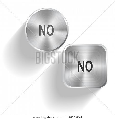 No. Raster set steel buttons