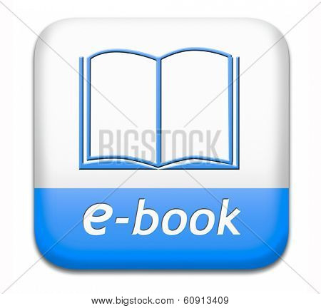 Ebook downloading and read online electronic book or e-book download button or icon