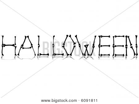 Halloween text made from bones