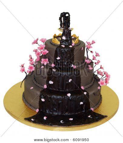 Chocolate Fountain Iced Cake