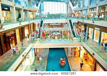 Shopping Mall In Marina Bay