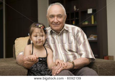 Grandpa and grand daughter
