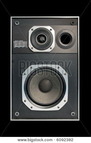 Two Way Hifi Audio Speaker In Black Background