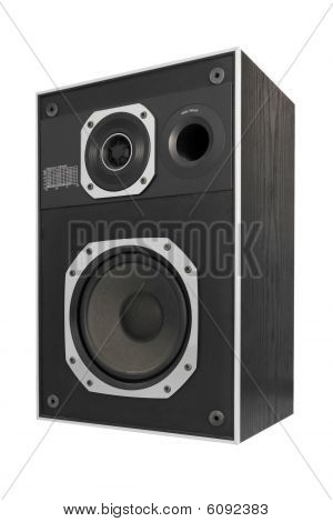 Two Way Hifi Audio Speaker, Isolated