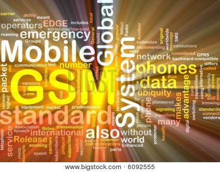 Gsm Word Cloud Glowing
