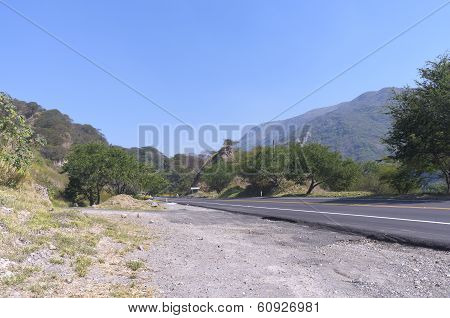 Roadside In Sierra Madre Mountains Of Jalisco