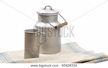 Graduated Jug And Milk Can